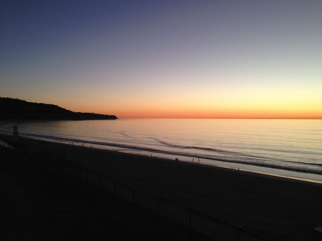 sunset, beach, palos verdes