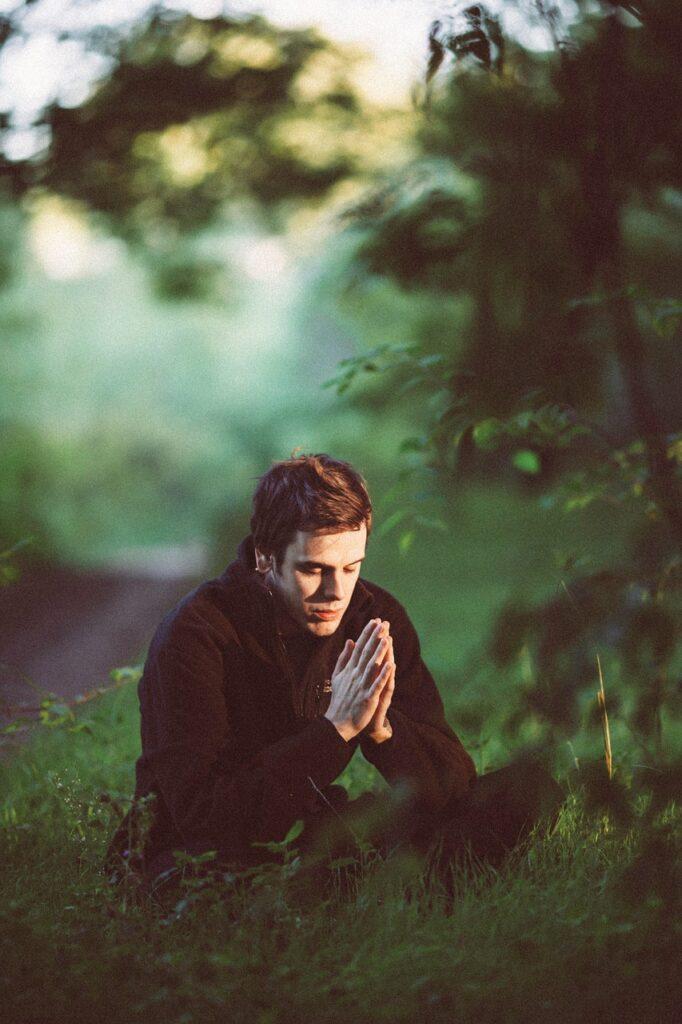 green, pray, young man