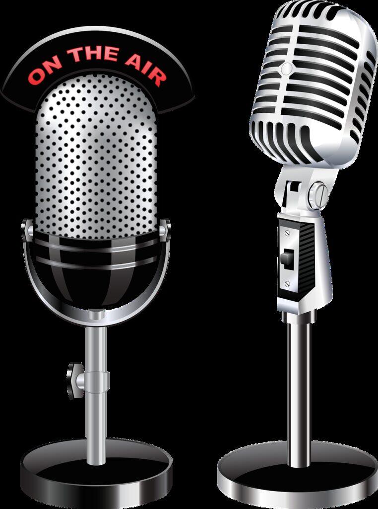 microphones, radio, sound