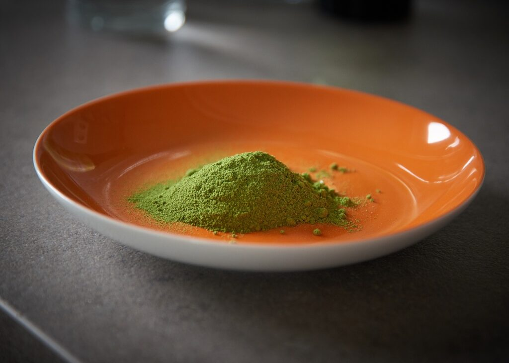 moringa, oleifera, leaf powder